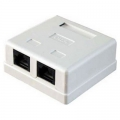 2-Port Cat.5e Surface Mounted Box