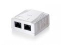 EQUIP 2-Port Cat.6 Surface Mounted Box
